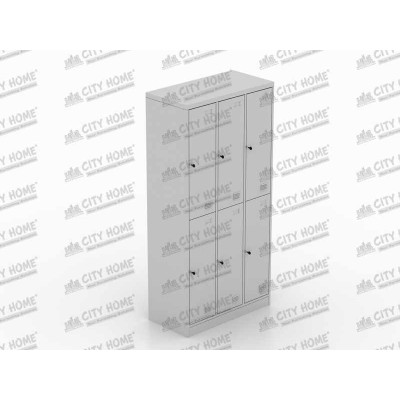 Metals - ML 886 B - Locker 6 Pintu (GREY)