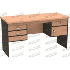 Modera Powell Three - PDT 1460 BE - MODERA OFFICE Office Desk - Meja Kantor Dengan Laci + 1 Pintu Panel Uk.140x60