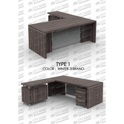 GRAND FURNITURE - Meja Manager / Direktur - Executive Series - VEA 2090 TYPE 1 + VEA 1250 RT