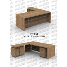 GRAND FURNITURE - Meja Manager / Direktur - Executive Series - VEA 2290 TYPE 3 + VEA 1250 RT