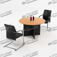 Five Series - Round Conference Table - Warna Cherry