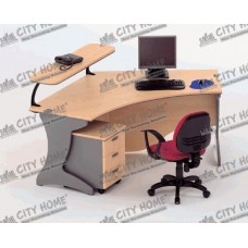Nine Series - Desks - Warna Oxford Cherry - WS 1.1