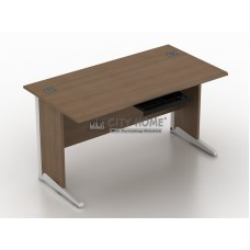 Meja Utama 150cm + Pencil Tray (Tanpa Laci) (Walnut) - AOD 7515 - A Class