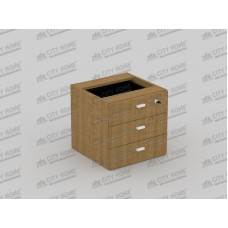 Modera Powell One - PHD 7338 - MODERA OFFICE Fixed Pedestar Drawer - Laci Gantung ( 3 Laci + Central Lock)