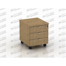 Modera Powell One - PMD 7331 - MODERA OFFICE Mobile Pedestal Drawer - Laci Sorong (3 Laci + Kunci Central Lock)