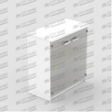 Modera Powell Two - PCL 7493 T - MODERA OFFICE Lower Glass Door Cabinet - Lemari Pendek Pintu Kaca